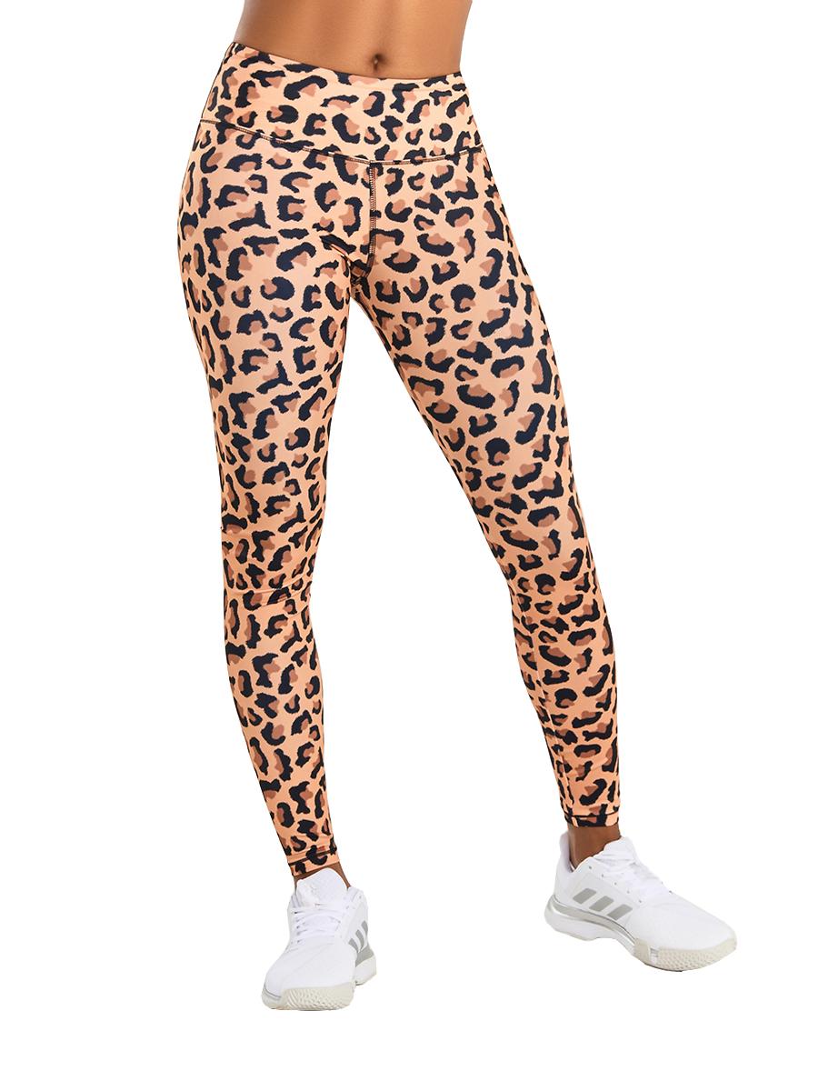 Леггинсы c высокой посадкой леопард EAZYWAY 9W04.033.1