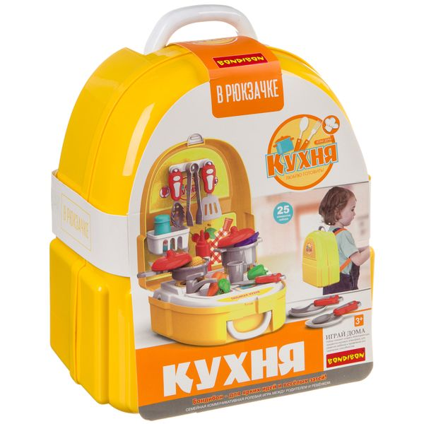 Купить Набор игровой в чемоданчике 23х13х24, 5 см, 25 дет., Bondibon, кухня, арт. 7F705., Детская кухня