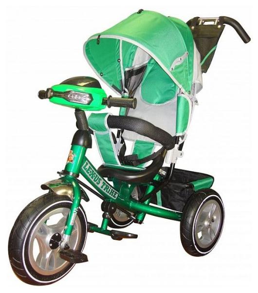 Купить Трехколесный велосипед Funny Jaguar Lexus Racer Trike Air с музыкальной панелью зеленый, Детские велосипеды-коляски