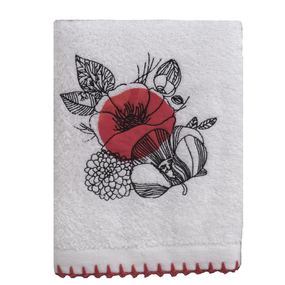 Allegro Кухонное полотенце Veronica Цвет: Белый, Красный (50х70 см)