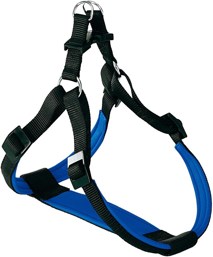 Шлейка для собак Ferplast Daytona, нейлон, черная, P Medium, шея 50-60 см, грудь 47-54 см