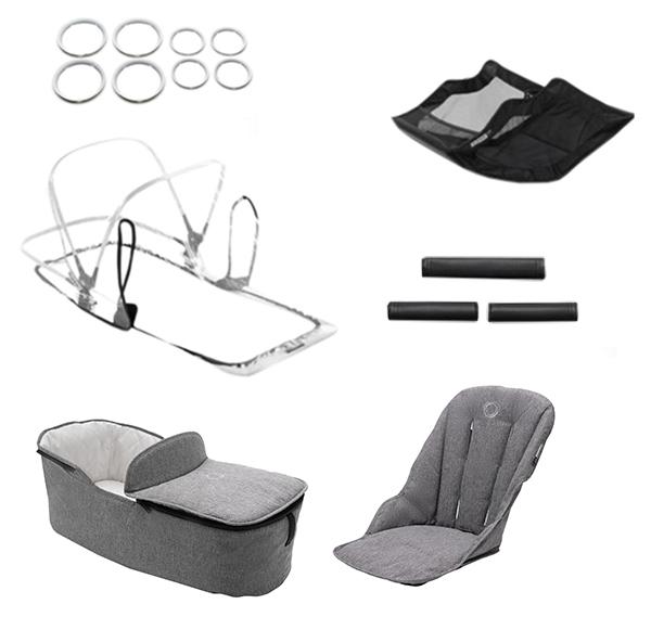 Купить Комплект Bugaboo Fox (Бугабу Фокс) стильный style set GREY MELANGE 230255GM01, Комплектующие для колясок
