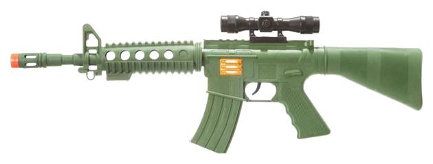 Купить Игр. оружие PAC 54 см Автомат с прицел., хакки, арт. M16F, NoBrand, Стрелковое игрушечное оружие