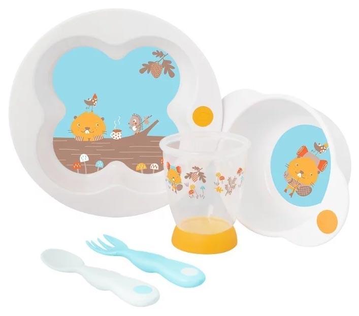 Набор детской посуды Bebe Confort Woodcamp Белый фото