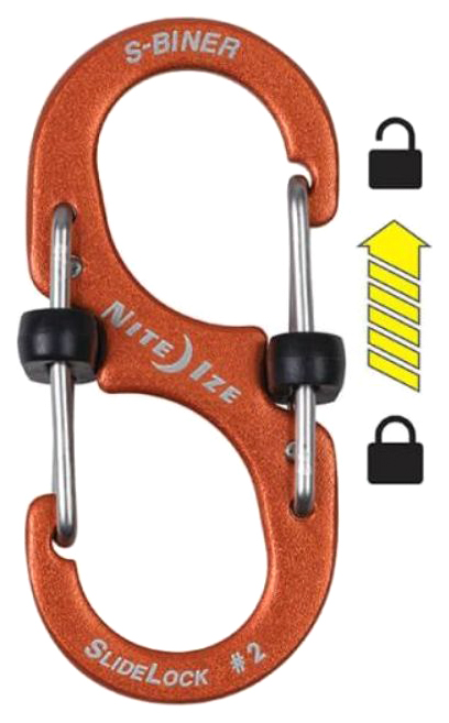 Карабин алюминиевый Nite Ize S-Biner SlideLock #3 LSBA3-19-R6 Orange