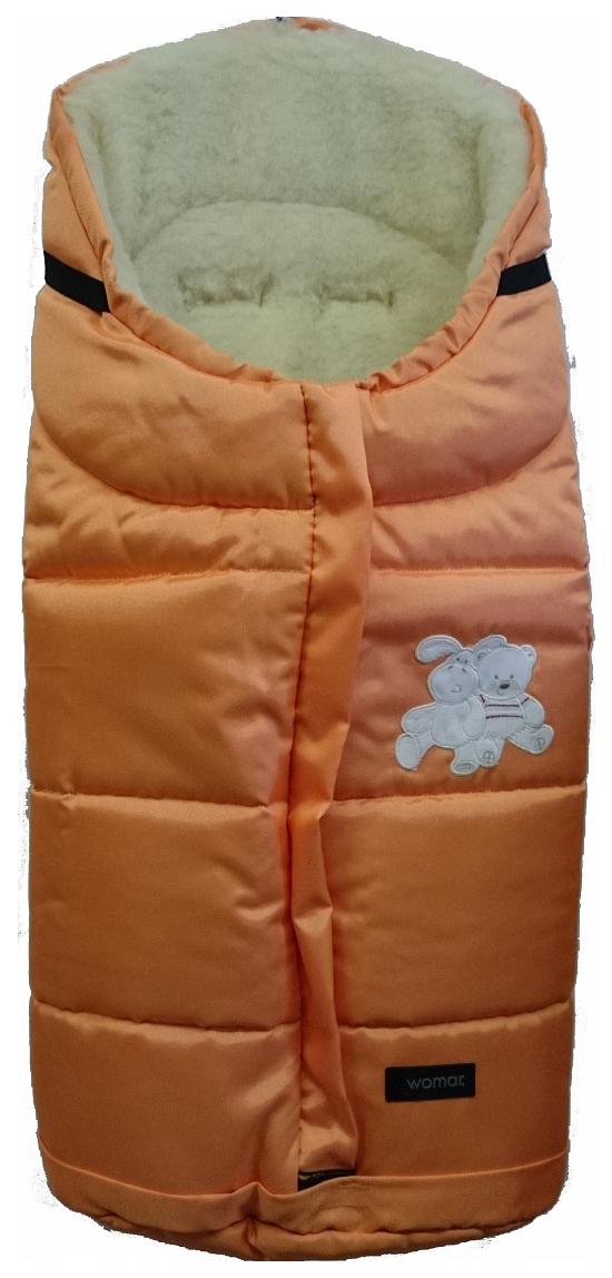 Купить Спальный мешок в коляску Womar Wintry №12, шерсть, 2 Оранжевый, Конверты в коляску