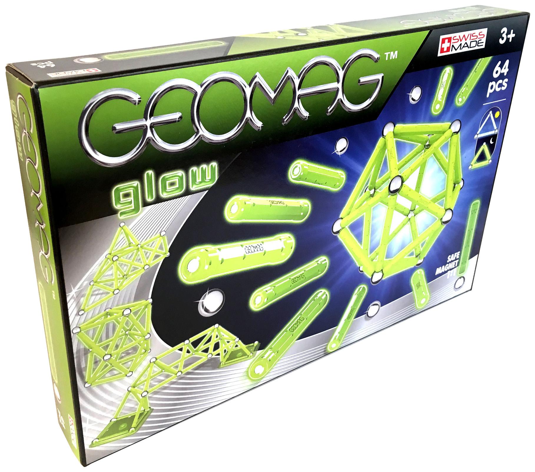 Купить Конструктор магнитный GEOMAG Glow 336 64 детали, Магнитные конструкторы