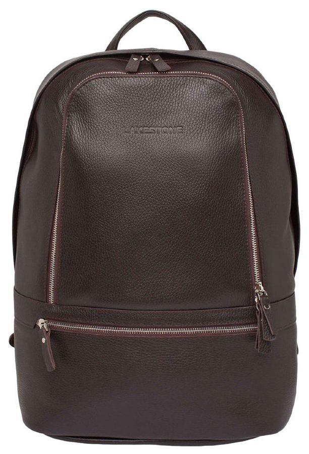 Рюкзак кожаный Lakestone Timber коричневый 15 л фото