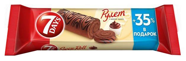 Рулет бисквитный 7 Days с кремом какао 300 г фото