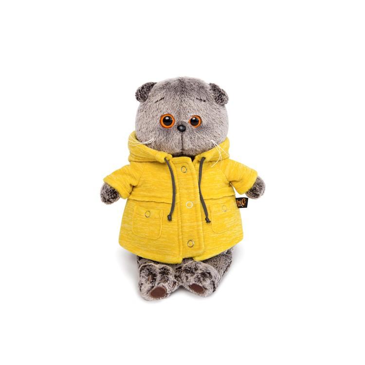 Купить Мягкая игрушка BUDI BASA Кот Басик в желтой куртке, 25 см,