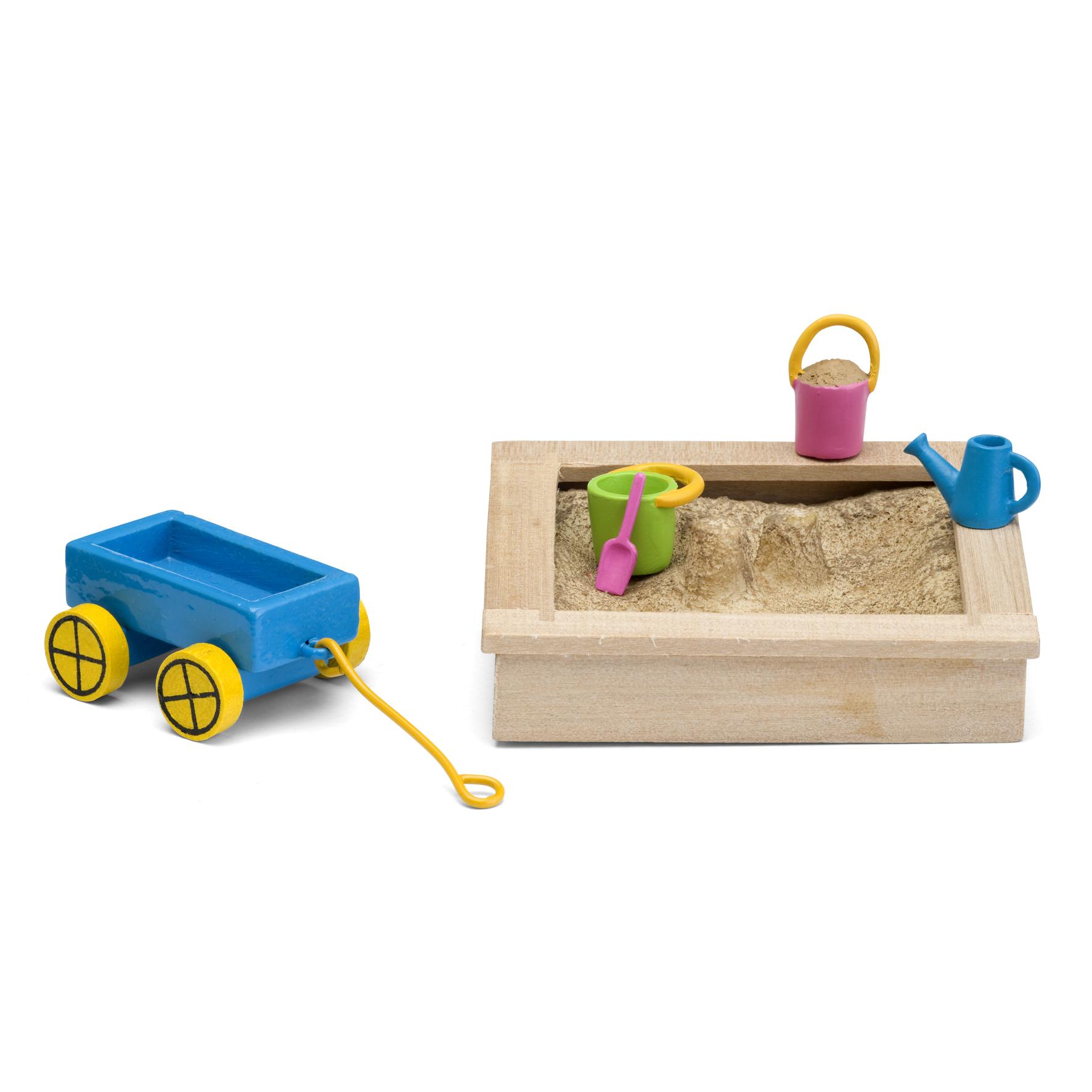 Купить Кукольные домики, Игровой набор Lundby для домика Смоланд Песочница с игрушками,