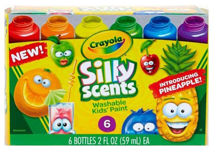 Набор Crayola из 6 ароматизированных смываемых детских