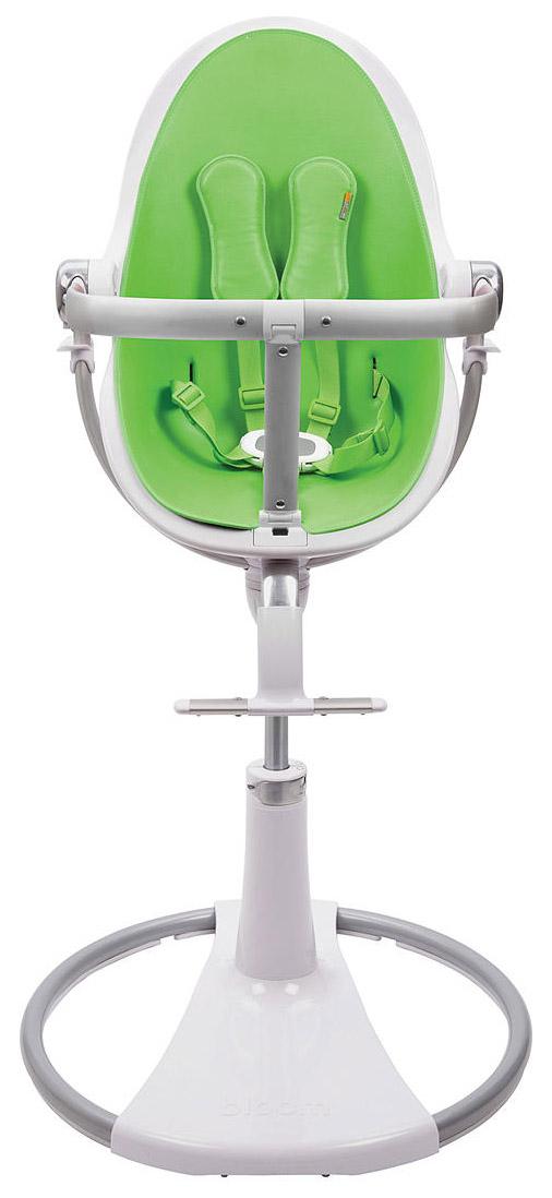 Купить Стульчик для кормления Bloom Fresco Chrome White white, зеленый, Стульчики для кормления