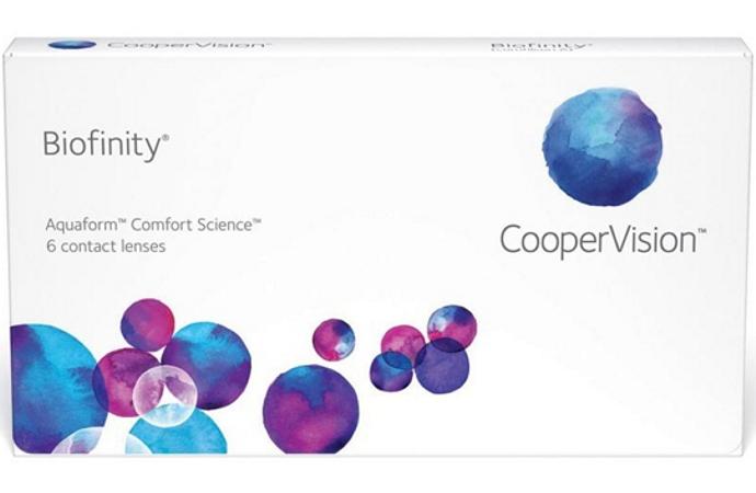 Контактные линзы Biofinity 6 линз +3,75 фото