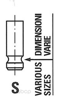 Клапан двигателя citroen, peugeot 1.8i 16v 00 29.8x6x106 in Freccia R6157/S