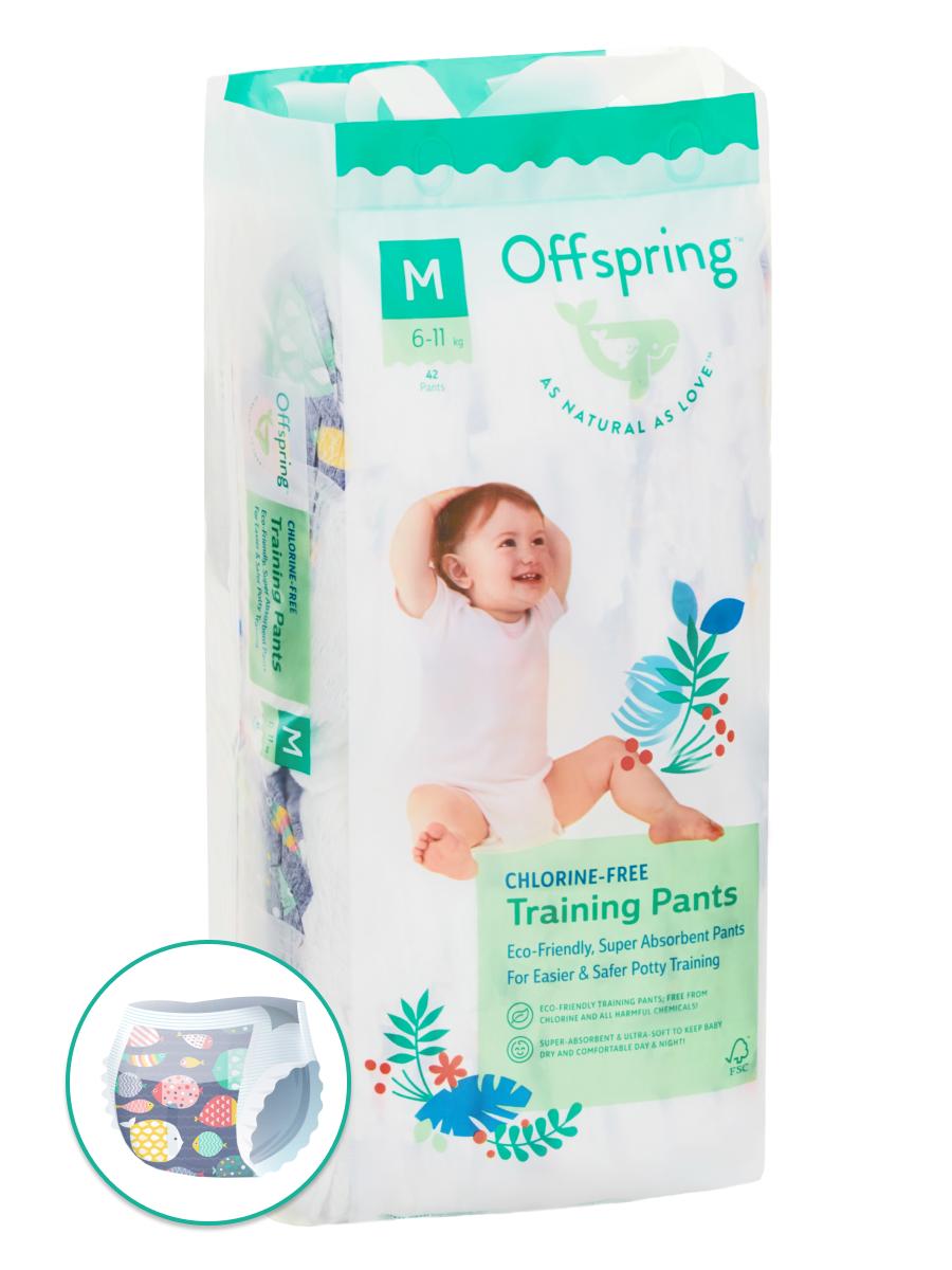 Купить Подгузники-трусики Offspring M 6-11 кг 42 шт. Рыбки