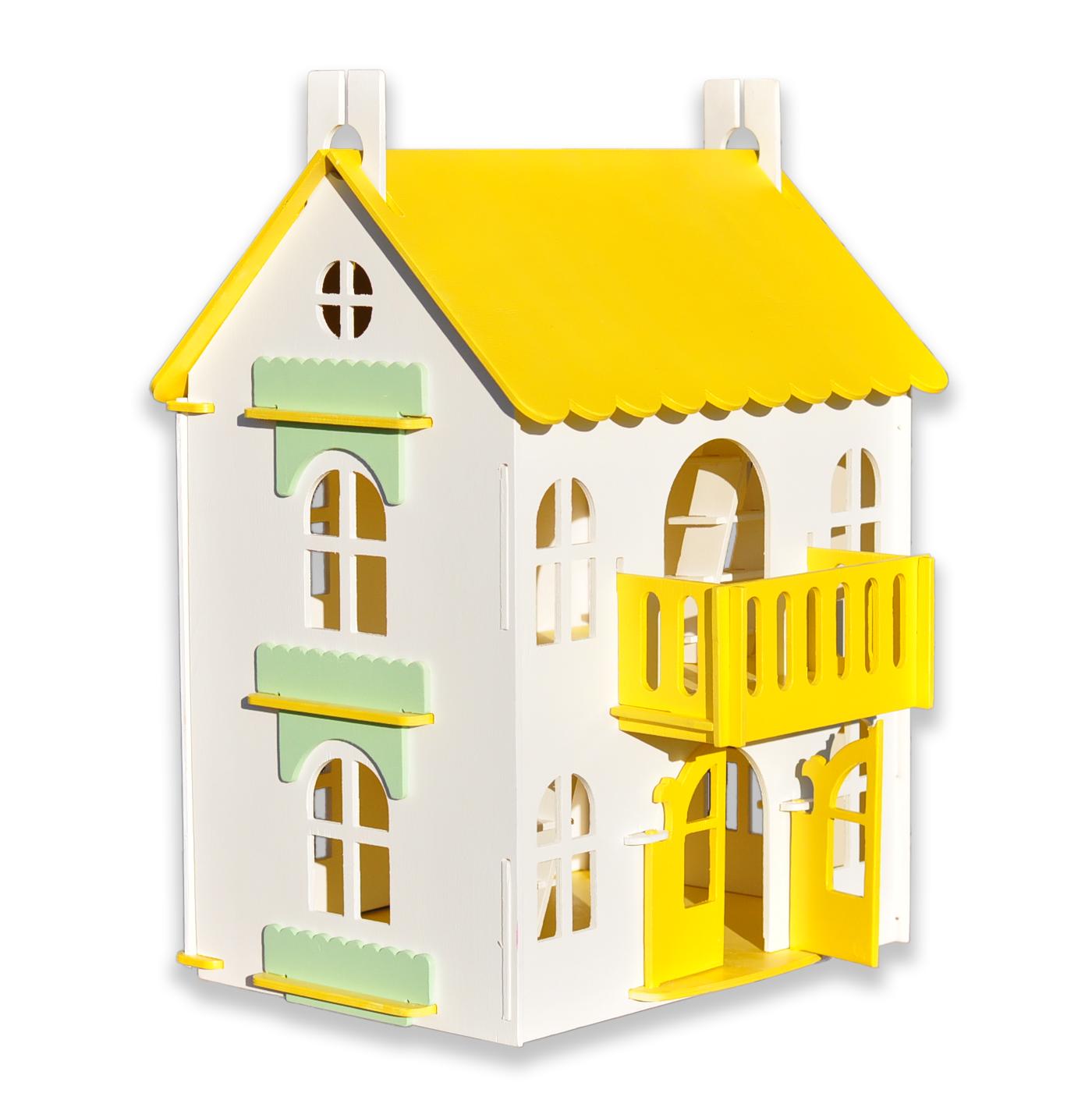 Кукольный домик Woodlines Арина желтый