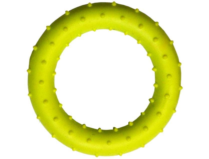 Жевательная игрушка для собак HOMEPET Кольцо с шипами, желтый, длина 8.2 см