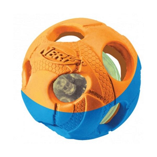Апорт для собак NERF Мяч светящийся, синий,