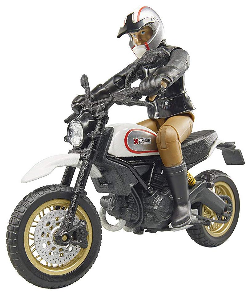 Купить Игровой набор Bruder Мотоцикл Scrambler Ducati Desert Sled с мотоциклистом,