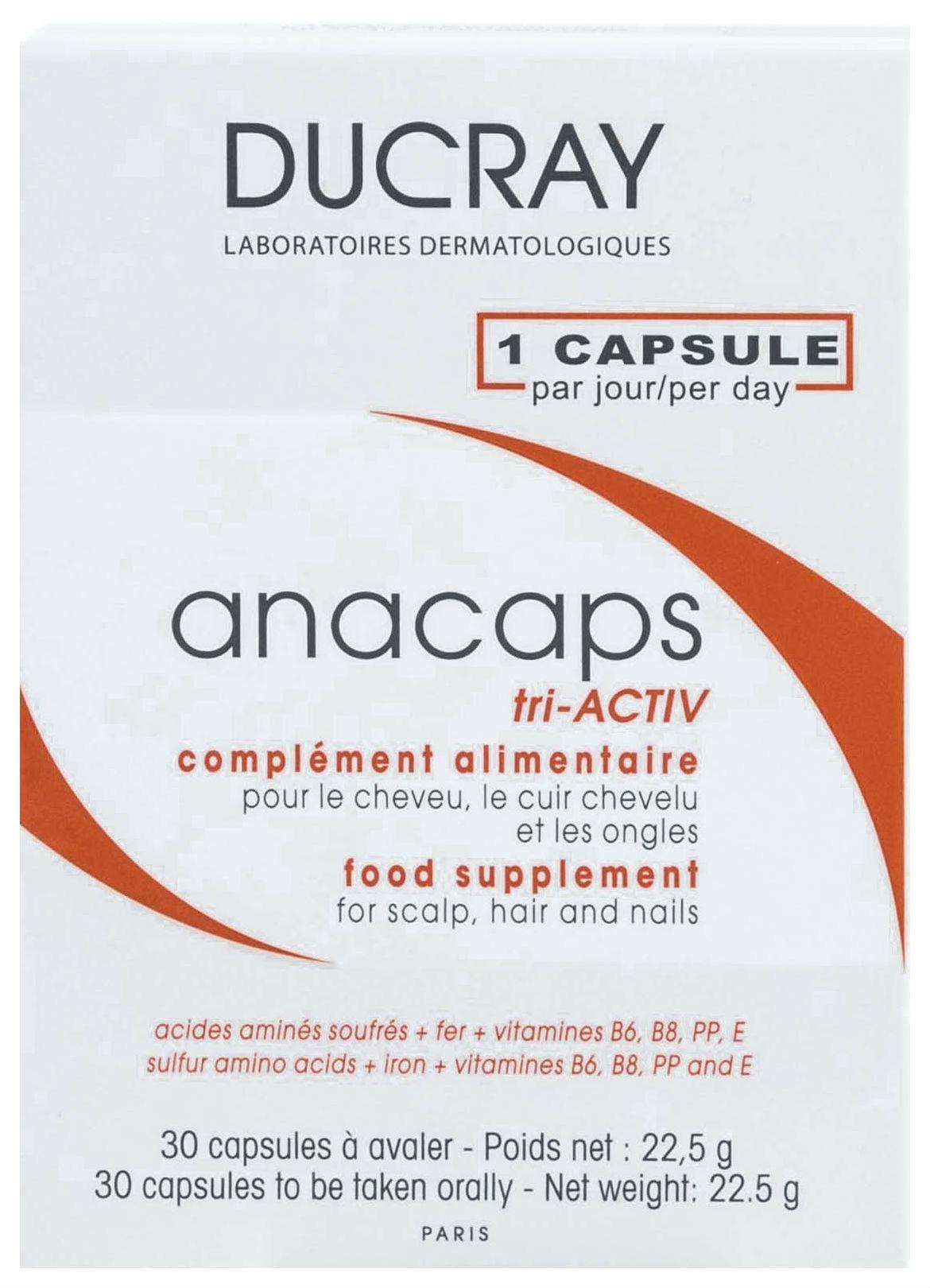 Для волос и кожи головы Ducray Anacaps Reactiv 30 капсул