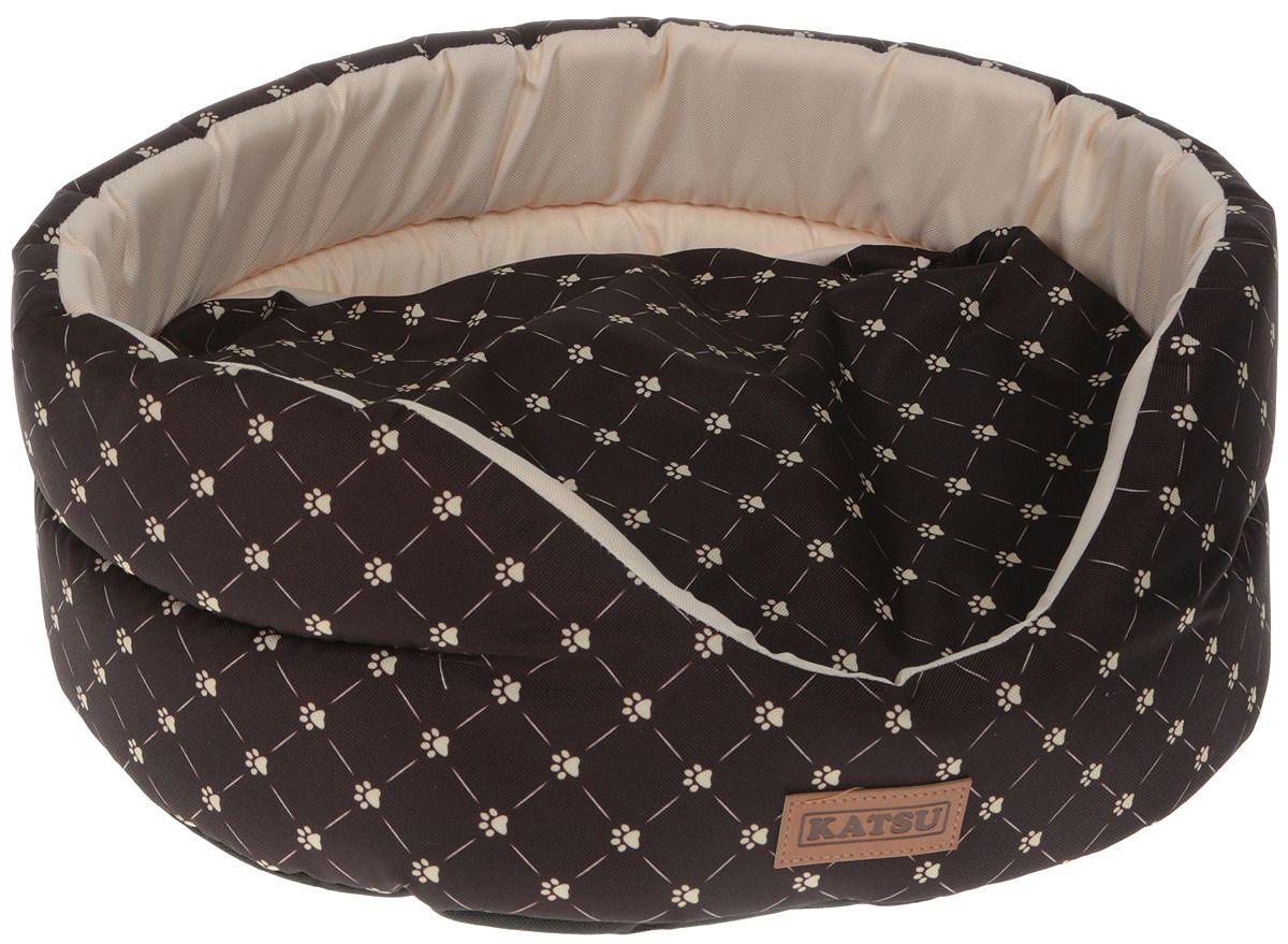 Лежак для кошек KATSU Yohanka shine Cat Paw коричнево-бежевый, размер 2 46х32х18см