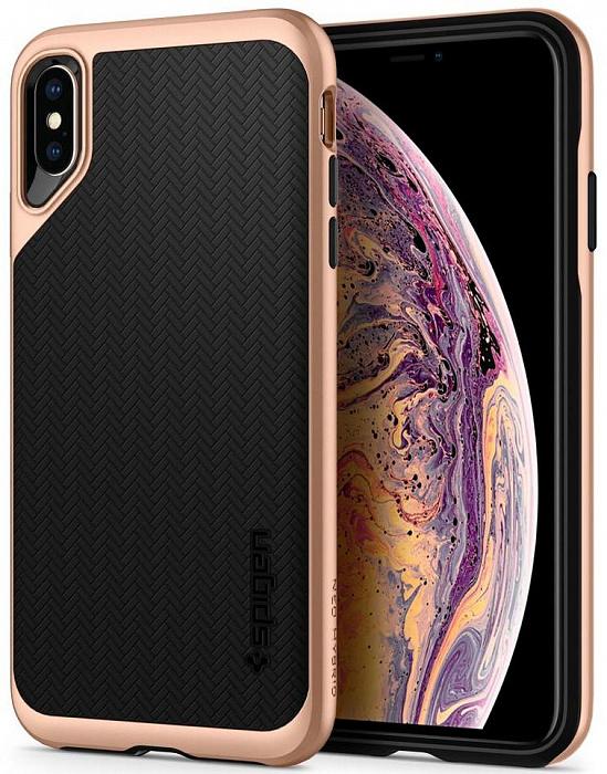 Чехол Spigen Neo Hybrid (065CS25353) для iPhone Xs Max (Gold)
