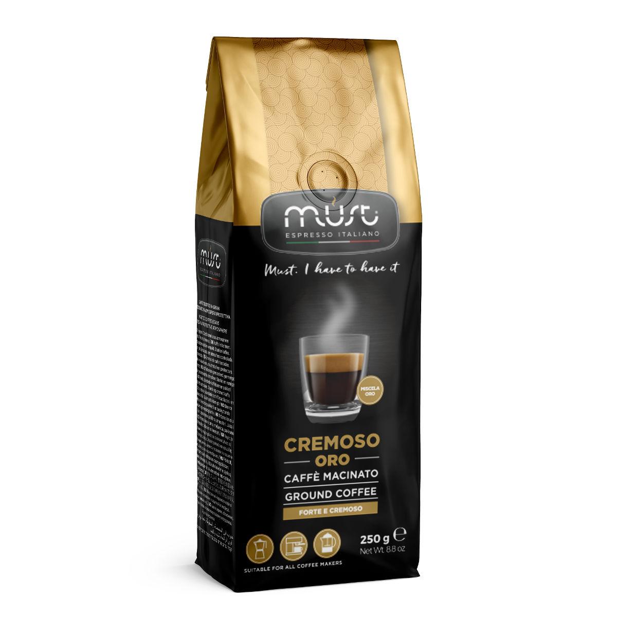 Кофе  молотый Must cremoso oro 250 г
