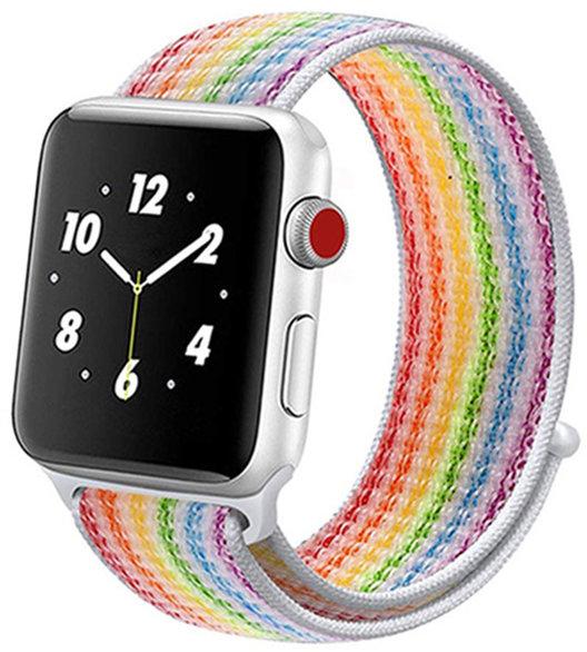 Ремешок COTEetCI W17 Magic Tape (WH5225-RB) для Apple Watch Series 2/3/4 38/40mm Rainbow