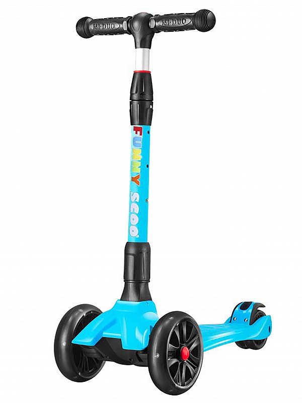 Самокат Funny Scoo MS-962 голубой, Самокаты детские трехколесные  - купить со скидкой
