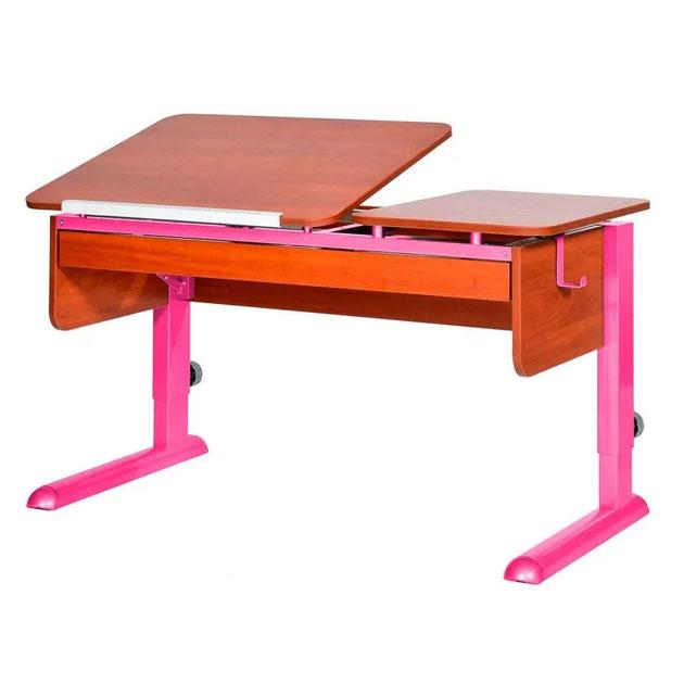 Купить ТВИН-2 с органайзером ЛДСП Яблоня Розовый, Парта для дома ТВИН-2 с органайзером яблоня, розовый, , Астек, Школьные парты