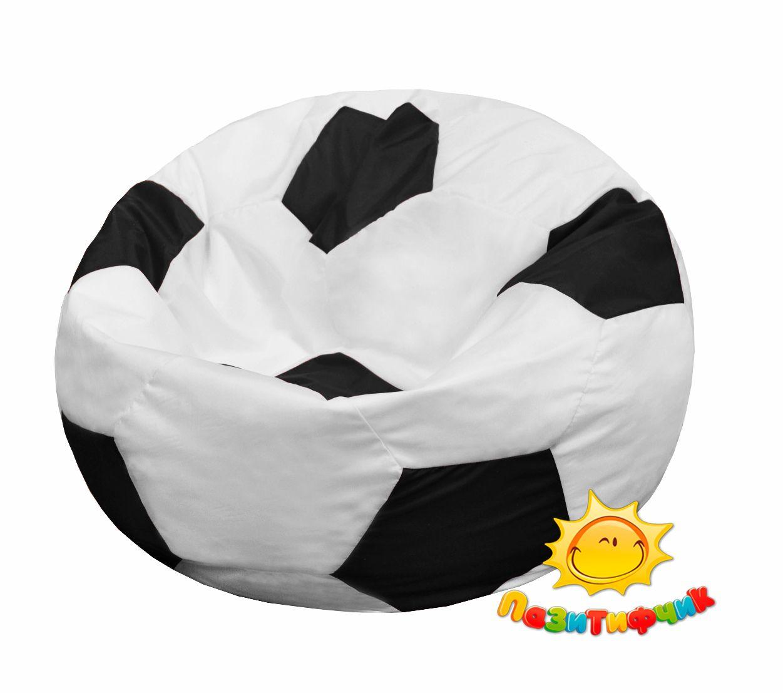 Кресло-мяч Pazitif Мяч Пазитифчик, размер L, оксфорд, бело-черный фото