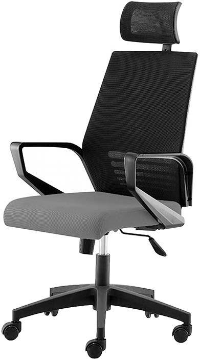 Офисное кресло Эрго-Black серый