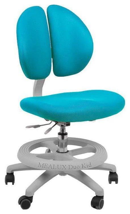 Купить Duo Kid Нейлон Голубой Серый, Детское кресло для школьника Mealux Duo Kid (цвет обивки: голубой, цвет каркаса: серый), Детские стульчики