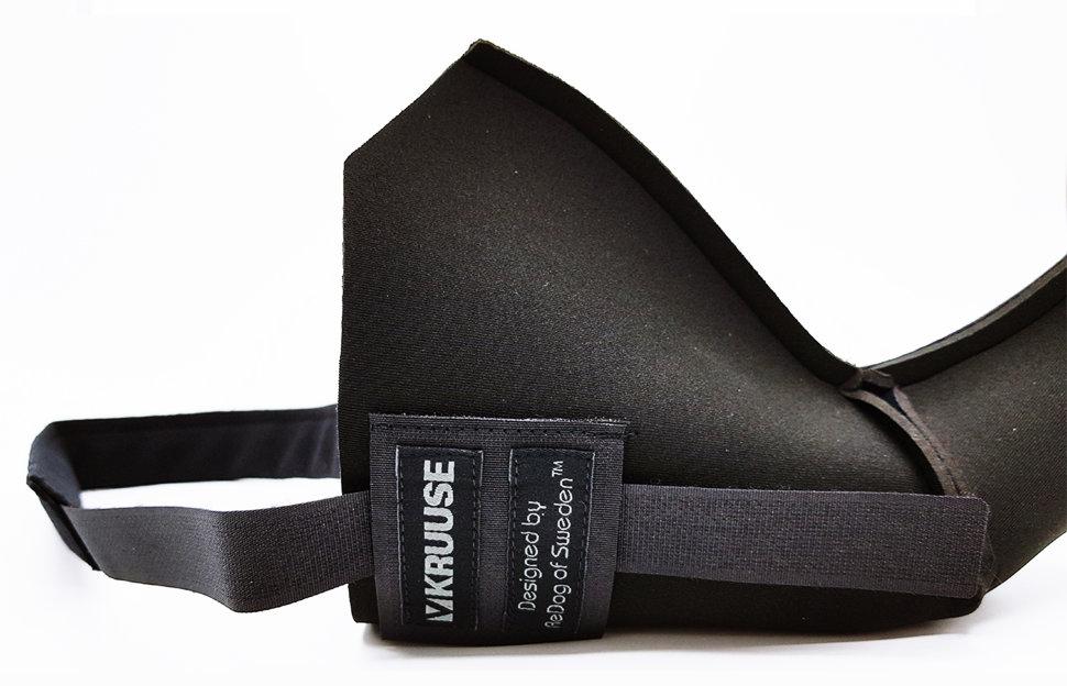 Протектор для собак Kruuse Rehab Knee Protector на правое колено черный XXL.