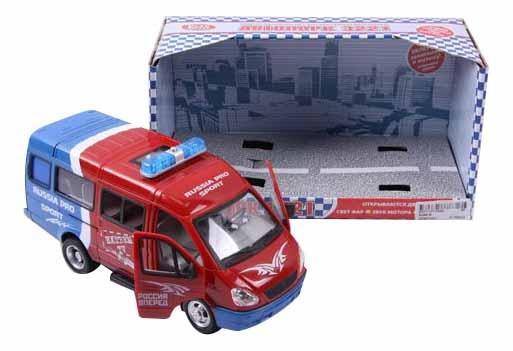 Купить Автопарк Play Smart со светом и звуком. Газель 3221 спорт 23 см, PLAYSMART, Городской транспорт