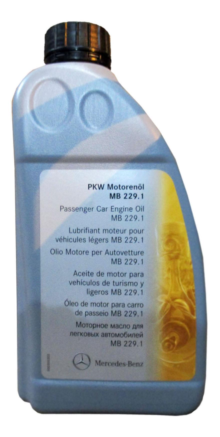 Моторное масло Mercedes-Benz 229,1 SAE 10W-40 1л