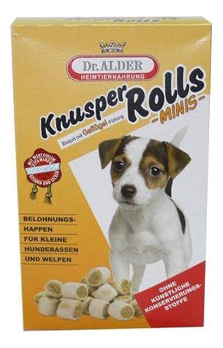Лакомство для собак Dr, Alder's, Knusper Rolls Minis, печенье с ягненком и рисом, 500г фото