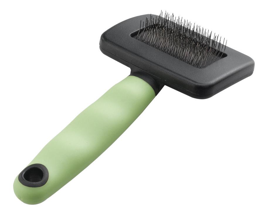 Пуходерка для кошек Ferplast пластик зеленый, черный
