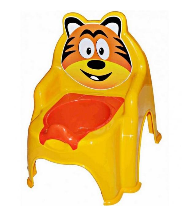 Горшок детский Doloni Детеныш тигра желтый