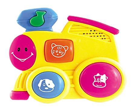 картинка Музыкальная игрушка Рыжий кот Паровозик от магазина Bebikam.ru