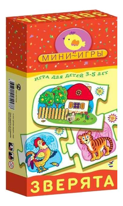 Купить Настольная мини-игра Дрофа-Медиа Зверята, Семейные настольные игры