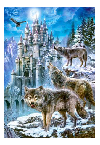 Пазл Castorland Волки и замок 1500 деталей фото