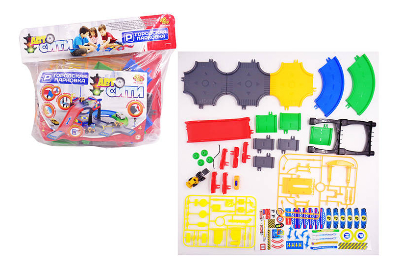 Парковка игрушечная Abtoys АвтоСити, 44 предмета PT-00669(WA-D0509) фото