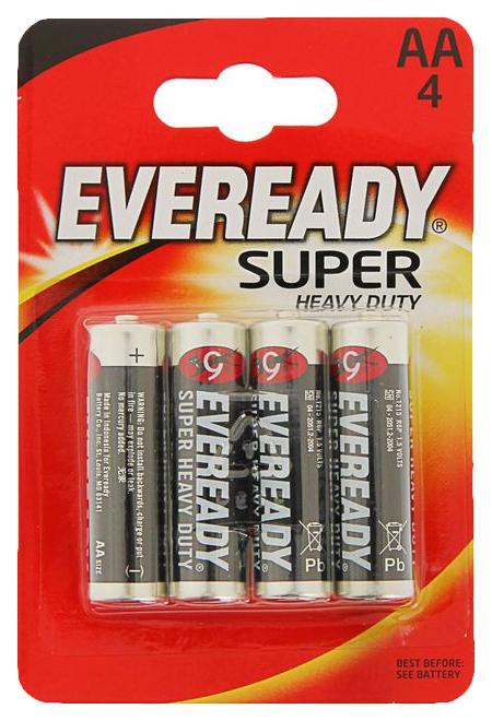Батарейка Energizer Eveready Super Heavy Duty 4 шт