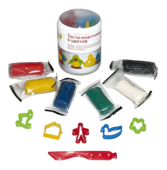 Купить Набор для лепки из пластилина Genio Kids Тесто-пластилин 6 цветов,