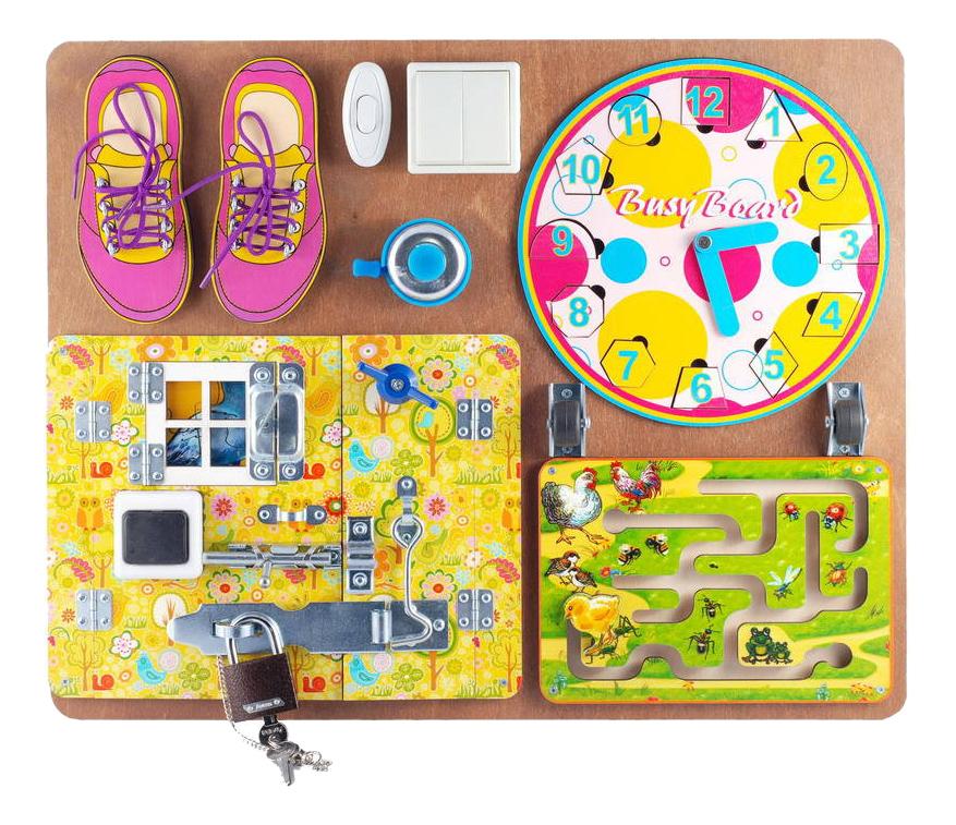 Купить Развивающая игрушка Бэмби Бизиборд для девочек, ТД Бэмби,
