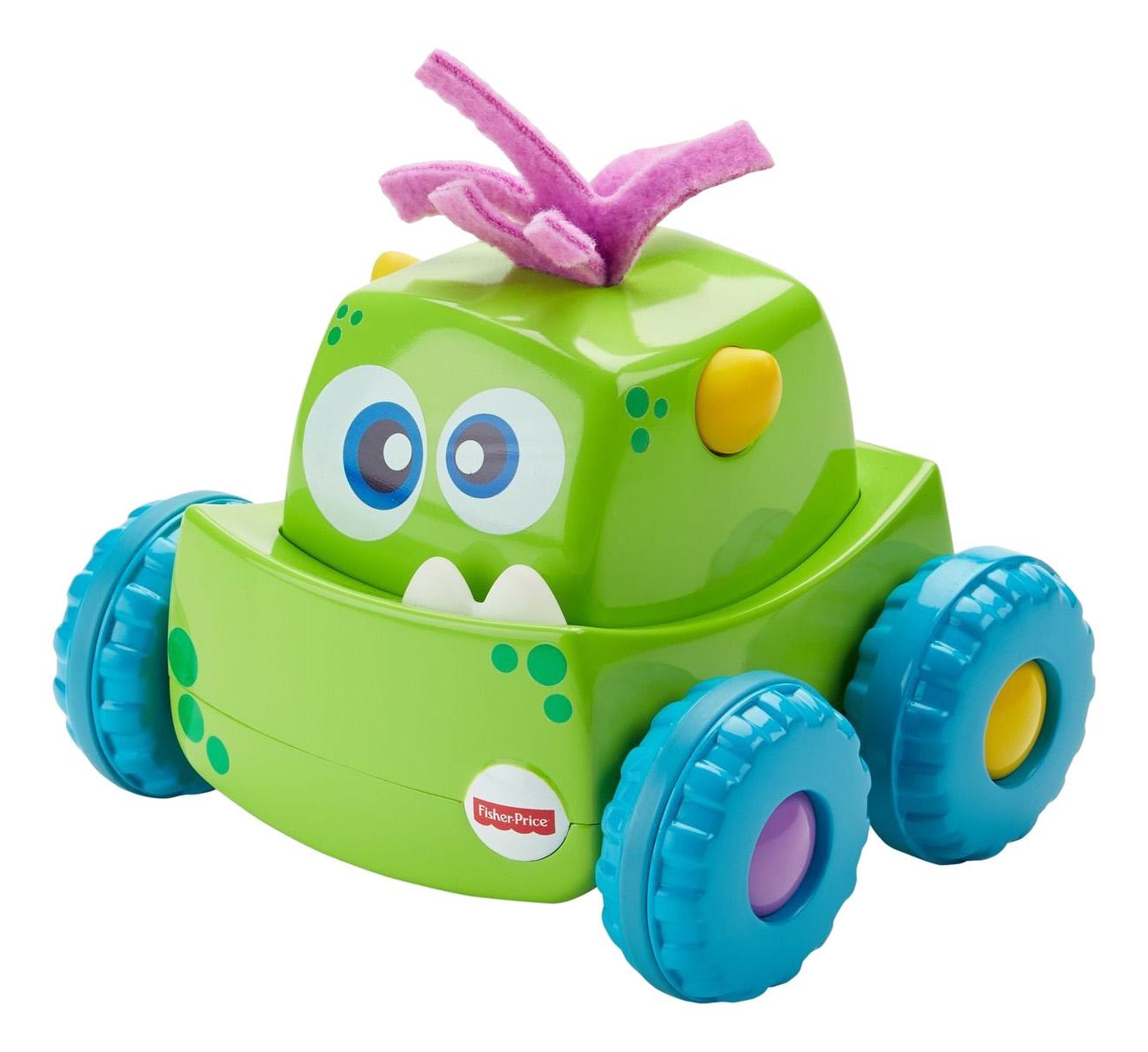 Купить Монстрик зеленый, Развивающая игрушка Fisher-Price Монстрик зеленый, Mattel, Развивающие игрушки