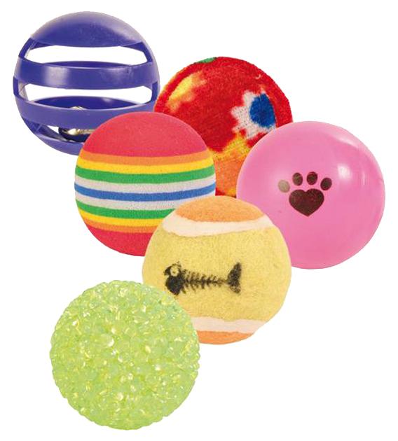 Мяч для кошек TRIXIE, Ткань, Пластик, Пенополиуретан,