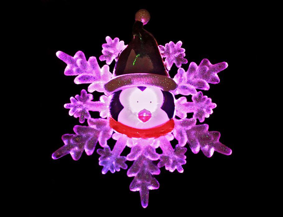 Светильник новогодний Snowhouse Пингвин 13 см